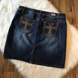 Earl Jeans Denim Skirt Women's Size 14